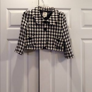 Tulle Houndstooth Cropped Jacket